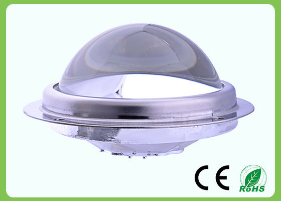Custom 100mm Optical Glass Lens In Led Bay Light , 80 Degree Beam Angle